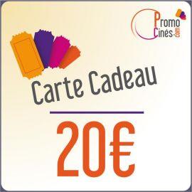 Carte Cadeaux Promo-Cines - 20 euros