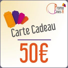 Carte Cadeaux Promo-Cines - 50 euros